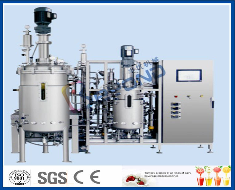 Aseptic Stainless Steel Storage Tanks / Floor Type Industrial Fermentation Tank