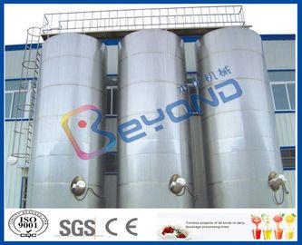 صهاريج تخزين كبيرة من الفولاذ المقاوم للصدأ في الهواء الطلق/SUS304 SUS316 الفولاذ المقاوم للصدأ معدات الألبان